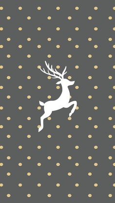 Gold And Grey Reindeer Wallpaper For iPhone christmas christmas pictures christmas ideas christmas wallpapers holiday wallpaper christmas backgrounds