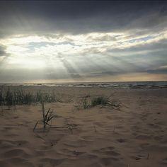 #sea #baltic #beach #sunset #clouds