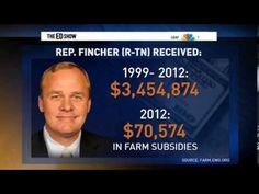 Rep Fincher Republican from Tennessee has a farm that from 1999 to 2012 received over three million dollars of tax payer money.