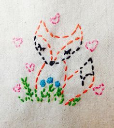 A personal favorite from my Etsy shop https://www.etsy.com/listing/205892446/embroidery-kit-little-woodland-fox