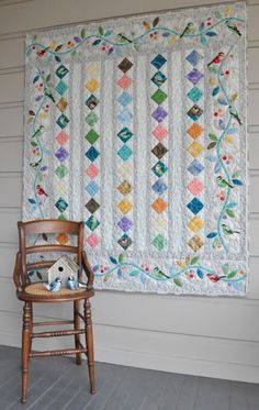 """This free quilt pattern is called """"All a Flutter"""". Thanks Alex Anderson Quilts for posting it."""