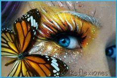 Monarch Butterfly Eye Makeup 14 Magical Makeup Designs That Will Transport You To Another World Monarch Butterfly Eye Makeup Butterfly Eye Halloween Makeup Video Tutorial Halloweenmakeup. Butterfly Makeup, Butterfly Eyes, Butterflies, Monarch Butterfly, Make Up Art, Eye Make Up, Maquillage Halloween, Halloween Makeup, 5d Diamond Painting