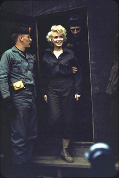 Marilyn Monroe with the Marines in Korea c. 1954