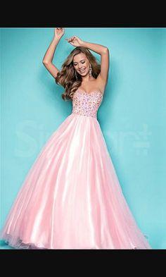 Light Pink Ball Gown Floor-Length Sleeveless Prom Dress 003 | PINK ...