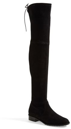 $798, Black Suede Over The Knee Boots: Stuart Weitzman Lowland Over The Knee Boot. Sold by Nordstrom.