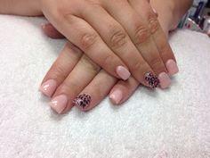"Light Elegance ""Pink Peppermint"" and ""Gold"" glitter leopard print"