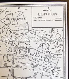 london vintage map of london original 1940s vintage london underground map in black and