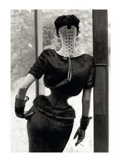 """nothingpersonaluk: """" Shot by Steven Meisel and styled by Karl Templer, the Stella Tennant for Vogue Italia September 2011 editorial is inspired by Ethel Granger, the girl with the smallest waist, measuring at just 13 inches Mr Pearl Corsetry Paris """" Stella Tennant, Steven Meisel, Ellen Von Unwerth, Vogue, Ethel Granger, Mr Pearl, Jean Paul Goude, Templer, Mode Editorials"""