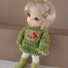 Green Bear Sweater for Lati Yellow and Pukifee by myfairdolly, $16.00