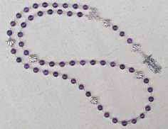 Catholic Dominican Rosary with Amethyst by GardenofDevotion