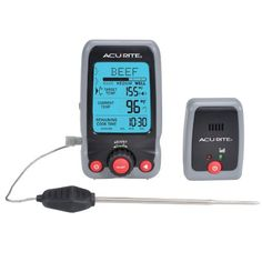 AcuRite 00278 Digital Meat Thermometer and Timer with Pager - http://www.storekitchendining.com/acurite-00278-digital-meat-thermometer-and-timer-with-pager/