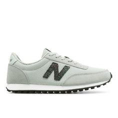 410 70s Running Suede Women's Running Classics Shoes - Silver/Black (WL410BU)
