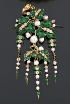 Fabulous French brooch, 1860