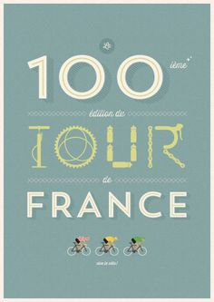 Posters My Tour de France par Veerle Pieters : Authentiques Illustrations Rétro