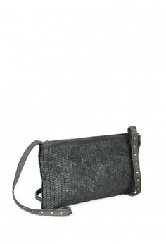 BLACK LEATHER SLING WITH STUDS