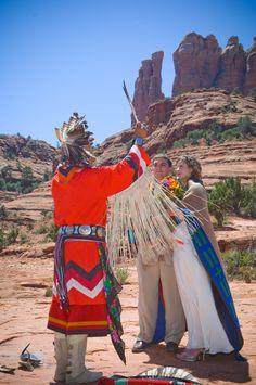 Havasupai Shaman Wedding - Cathedral Rock, Sedona, AZ Keywords: #weddings #jevelweddingplanning Follow Us: www.jevelweddingplanning.com  www.facebook.com/jevelweddingplanning/