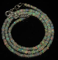 """23 Crts 1 Necklace 2to3mm 16"""" Beads Natural Ethiopian Welo Fire  Opal  56928"""