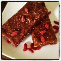 Chewy Chocolate Superfood Energy Bars  #HappyHealthnut