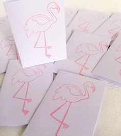 Pink Flamingos mini cards