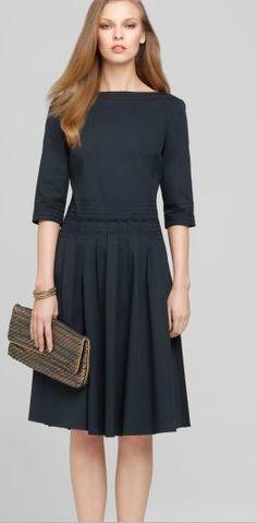 Elie Tahari navy Tess Dress.