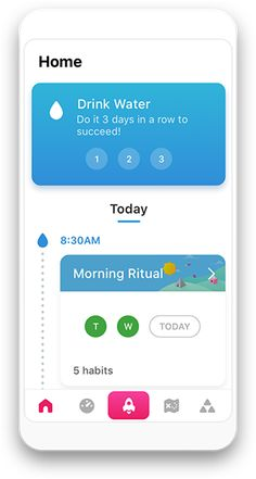 Embark on a journey to reset your habits Fabulous is a science-based app, incubated in Duke's Behavioral Economics Lab, that will help you build healthy rituals into your life, just like an elite athlete. Habit App, Habit Tracker App, Behavior Tracker, Fitness Tracker App, Milestone App, Behavioral Economics, App Design Inspiration, Motivation Goals