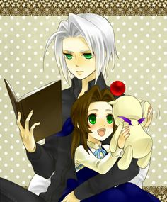 Final Fantasy VII: young Sephiroth & Aerith