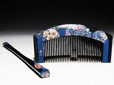 Edo Japanese Geisha Kushi Comb Kanzashi Lacquer Makie Hair Kinpaku Urushi Set 35   eBay