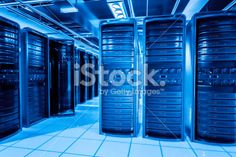 Network servers racks Royalty Free Stock Photo