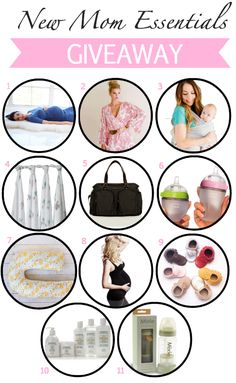 "Giveaway of over $1000 in ""New mommy"" essentials! Awesome prizes! #giveaway #baby"