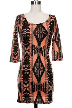 a24ded93f509 Obsessed with this aztec Printed Knit Navajo Dress Www.shop-rosewood.com  Navajo