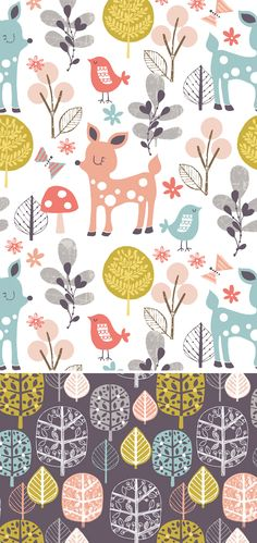 wendy kendall designs – freelance surface pattern designer » woodland walk