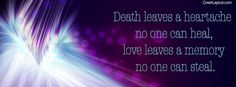 Death Leaves A Heartache Facebook Cover coverlayout.com