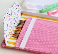 Como Fazer um Estojo para Lápis em Tecido