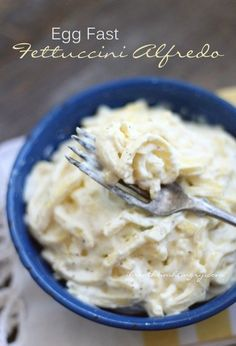 This delicious keto egg fast fettuccini alfredo recipe is even better than the real thing! A low carb and gluten free Keto Egg Fast Fettuccini Alfredo recipe that is also keto, lchf, egg fast, and Atkins diet friendly! Ketogenic Recipes, Low Carb Recipes, Diet Recipes, Cooking Recipes, Pasta Recipes, Keto Pasta Recipe, Cooking Corn, Cooking Fish, Cooking Steak