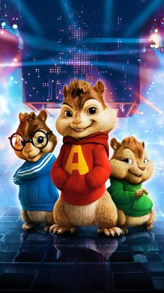 Alvin and the Chipmunks: The Road Chip Phone Wallpaper Alvin And Chipmunks Movie, Alvin Und Die Chipmunks, Cute Cartoon Wallpapers, Movie Wallpapers, Disney Marvel, Les Chipettes, Wallpaper Bonitos, Phineas Y Ferb, Disney Phone Wallpaper