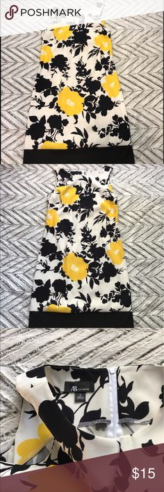 AB studio spring a line dress Adorable print on this alone dress. Length from top of shoulder to bottom of skirt is 36in AB Studio Dresses Midi