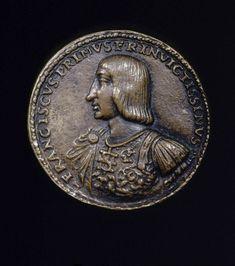 François Ier et la bataille de Marignan, attribuée à Matteo Dal Nassaro, vers 1515-1518, Bronze