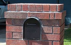 Projecting Course of Brick in Masonry Mailbox