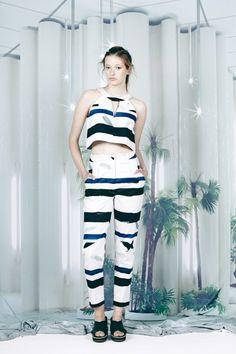 THEOREM CROP TOP PRINT « Kuwaii - Australian Made Clothing & Shoes