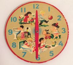 1950s Learn to Tell Time clock (110 pieces)