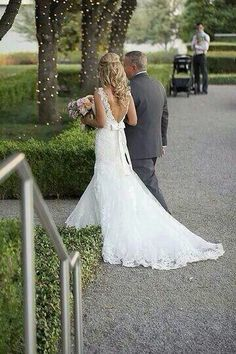 Love this picture of before the walk down the aisle