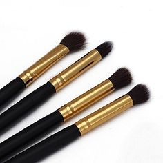 Tonsee 4Pcs Professional Makeup Cosmetic Tool Eyeshadow Powder Foundation Blending Brush Set >>> See this great product.