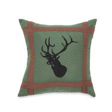 Mixed Pine Deer Decorative Throw Pillow
