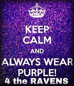 Purple Friday RAVENS~ Yes! GO Ravens!  This for Cassie  even though she might not be a Ravens fan....lol