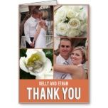 Shop Chic Collage Wedding Thank You Postcard created by berryberrysweet. Photo Thank You Cards, Custom Thank You Cards, Wedding Thank You Postcards, Wedding Cards, Chic Wedding, Elegant Wedding, Postcard Design, Custom Photo, Postcard Size