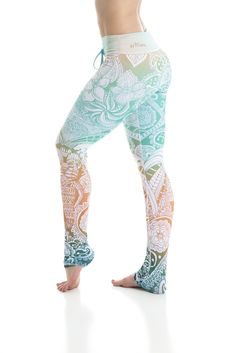 Om Shanti Leggings Inspired by henna tattoos, these haute couture Arthletic leggings are truly exotic and one of a kind. With olympic grade compression fabric, and incredible sweat wicking material, you can can still em Floral Leggings, Women's Leggings, Printed Leggings, Workout Leggings, Tights, Cheap Leggings, Hena, Elephant Leggings, Gothic Leggings