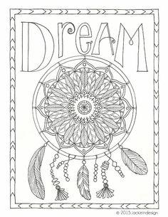 Dream Catcher Coloring Page - #Dreamcatcher