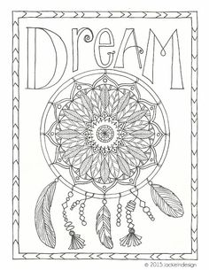detailed dream catcher coloring pages - photo#14