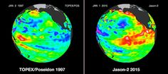 NASA says the worst of El Nino is yet to come.   elnino1997vs2015-animated-resized.gif