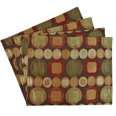 Sherry Kline Metro Spice Placemat ($28) ❤ liked on Polyvore featuring home, kitchen & dining, table linens, brown, brown placemats, dinner table mats, dinner placemats, sherry kline and colored placemats
